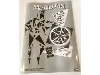 MARILLION REEL TO REEL 1984 GLOSSY PHOTO POSTER