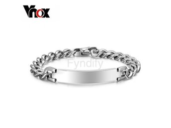 Armband Vnox 9mm Stainless Steel ID Brace Default Title