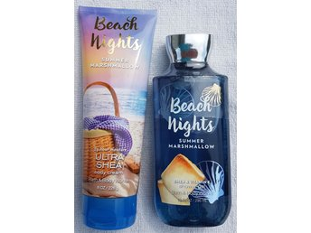 BEACH NIGHTS SUMMER MARSHMALLOW Bath Body Works Body Cream 226g ShowerGel 295ml