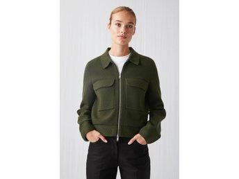 Arket Merino Box Jacket Khaki Green S 417906112 ᐈ Kop Pa Tradera