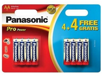 8-Pack Panasonic Alkaline PRO Power LR6/AA (blister) BL042