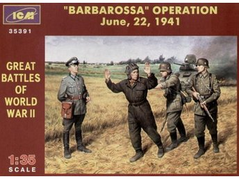 ICM BARBAROSSA OPERATION, JUNE 22,1941 (SET OF 4 FIGURES) 1/35