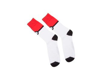 Pokemon: Pokeball Crew Socks Red and White Size Medium (39-42)
