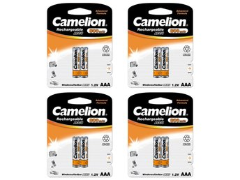 8st Camelion laddningsbara batterier AAA NiMH 800mAh  laddningsbart