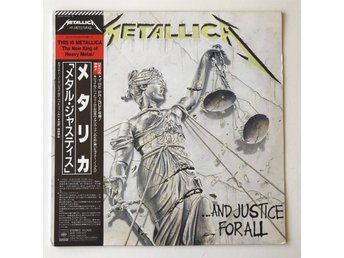 Metallica - ...and justice for all /// japan obi vinyl lp (1988)