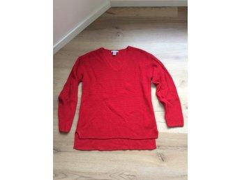 Röd v ringad tröja, HM Stl XS