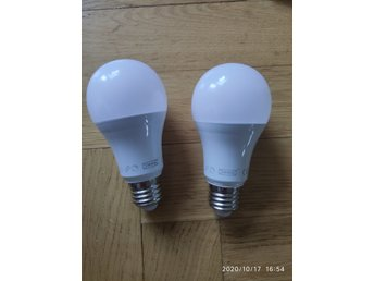 2 st IKEA TRÅDFRI smart lampor E27 1000lm 11W