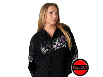 Floral Passion Ladies Zip Hoddie. XXL