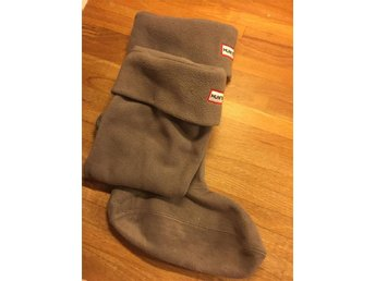 Hunter Fleece Welly Boot Socks Charcoal, strl M