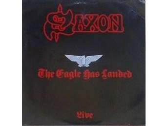 Saxon‎ title*The Eagle Has Landed (Live)* Heavy Metal  Scandinavia LP