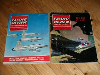 Flying Review International Vol 21 No 3 November 1965 och Vol 23 No 5 May 1968