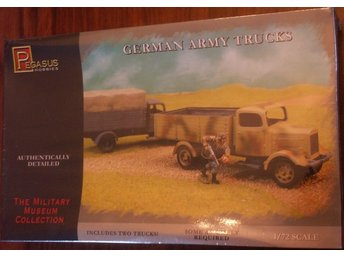 GERMAN ARMY TRUCKS     (2xlastbilar)     Pegasus Hobbies  1/72 Byggsats