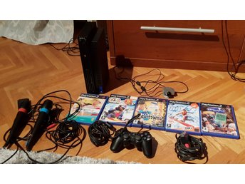 Playstation 2 paket SINGSTAR MIKROFONER SPEL kamera mm