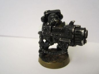 Warhammer 40K Space Marine with Plasma Cannon