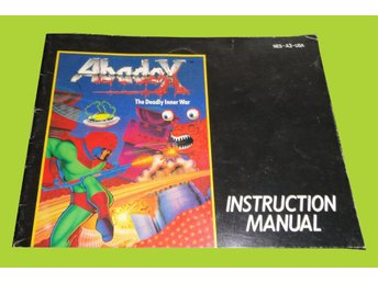 Abadox: The inner War NES USA Manual