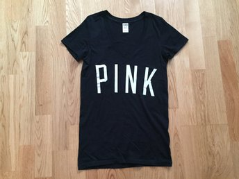 Victoria's Secret PINK t-shirt med tryck strl XS