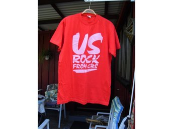 "T-Skirt ""US-ROCK FROM CBS"" Ny/Oanvänd T-Shirt Från 80-talet"