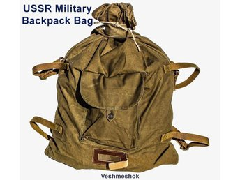 USSR Military Backpack Bag, WW2 Type - Veshmeshok Soviet Russian Army / Ryggsäck