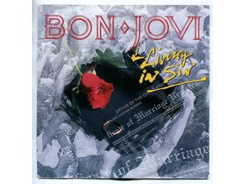 "Bon Jovi -Living in sin/Love is war 7"" Germany Polygram 1989"