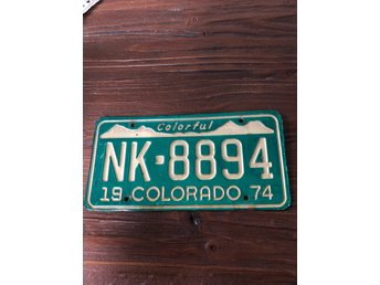 Colorado registreringsskylt nummerskylt license