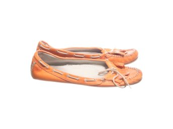 Hare, Ballerinaskor, Strl: 36, Orange, Skinn