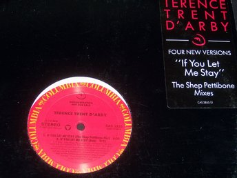 "TERENCE TRENT D´ARBY-IF YOU LET ME STAY 12"" PROMO TOPPSKICK"