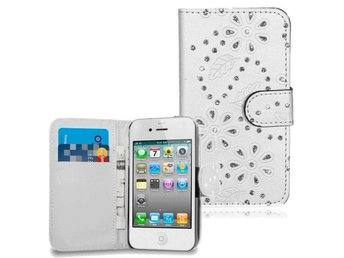 iPhone 4-4S Fodral Glitter Vit