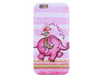 iPhone 6/6s TPU Skal Rosa Elefant