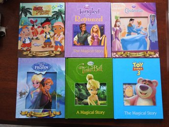 Disney Books in English (x6) Rapunzel,Frozen,Cinderella,Tinkerbell,Toy Story 3