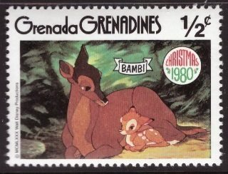 Disney, Grenada Grenadines, 1/2-cent Bambi, Scott 411