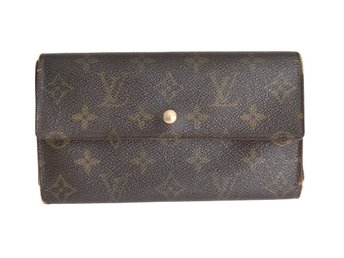 Äkta Louis Vuitton Monogram International Wallet Plånbok Monogram Canvas Clutch