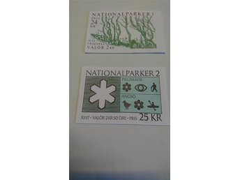 FACIT  H 398 Nationalparker 1 och H 402 Nationalparker 2