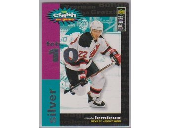 UD 95-96 Crash The Game - silver - # C28 LEMIEUX Claude - FEB10
