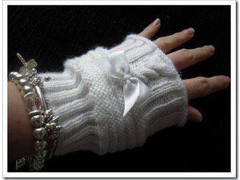 NYA! Stickade / Handstickade Dam Vantar Pulsvärmare Unisex Fingerlösa Vita - Växjö - NYA! Stickade / Handstickade Dam Vantar Pulsvärmare Unisex Fingerlösa Vita - Växjö