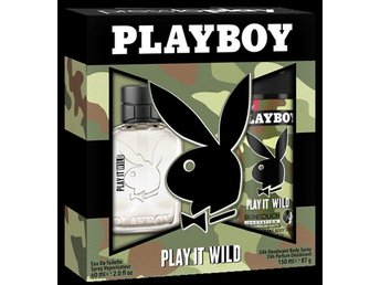 Giftset Playboy Play It Wild Edt 60ml + DSP 150ml