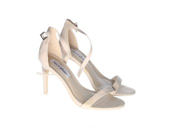 NLY Shoes, Klackskor, Strl: 36, Beige, Mockaimitation