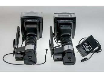 2x Metz CT-5 professional  high-powered flashguns,Nicds,Charger,Excellent