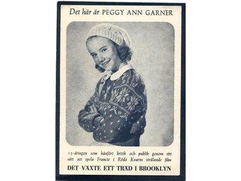 """Peggy Ann Garner Filmreklamkort för """"Det växte ett träd i Brooklyn"""" 1940tal - Lenhovda - Peggy Ann Garner Filmreklamkort för """"Det växte ett träd i Brooklyn"""" 1940tal - Lenhovda"""