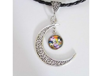 Musse Pigg Måne Halsband / Mickey Mouse Moon Necklace
