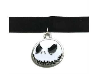 Choker Nightmare Before Christmas Jack Halloween Velvet  Sammet