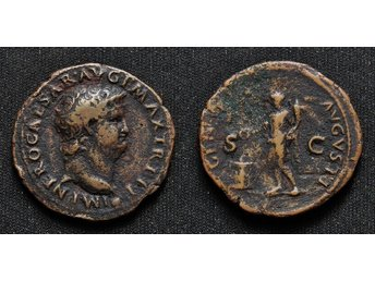Nero, AE AS, Lugdunum