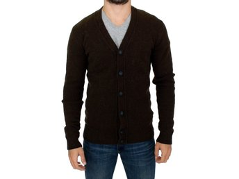 Costume National - Brown stretch full button cardigan