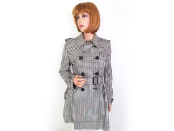 Weekend maxmara Womens Coat Size 10 Gray Cotton Print Italy