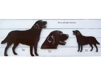 Labrador i smide, huvudskylt, 30 cm, brun. - Storvreta - Labrador i smide, huvudskylt, 30 cm, brun. - Storvreta