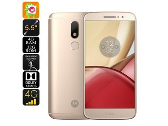 Lenovo Moto M Android Smartphone - Android 6.0, Dual-IMEI, 4G, Fingerprint, Octa