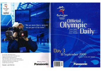SYDNEY 2000 OFFICAL OLYMPIC DAILY - Day 3-5, 7, 8