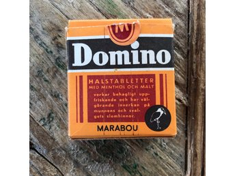 Marabou Domino antik tablettask (tom) halstabletter retro