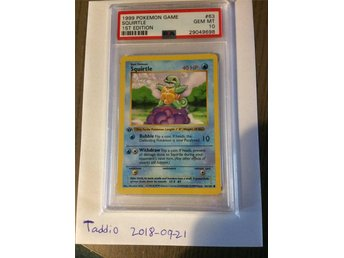 PSA 10 base set 1st edition squirtle pokemon