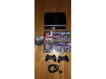 Playstation 3 - PS3 - 7 spel - 2 handkontroller