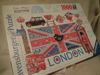 Pussel, Ravensburger Tula Moon Edition. London motiv. 1000 bitar